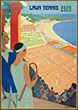 "Pixiluv 2020 Wall Calendar [12 pages 8""x11""] Tennis Players Vintage Sport Ads Poster Advert"