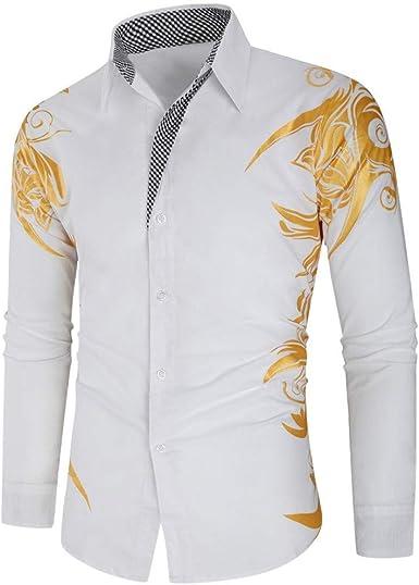Camisas de Verano para Hombre, Camisa de Manga Corta XXL con ...