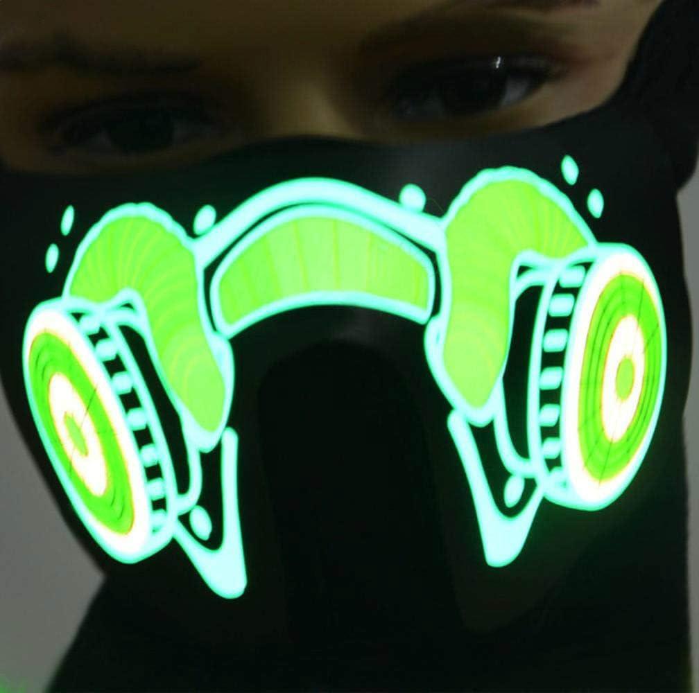 FFSMCQ Personalidad Creativa Máscara De Luz Led Horror Susto Miedo Suministros Para Fiestas Máscara Resplandor Danza Disfraces De Halloween Decoración Juegos De Rol Regalos D: Amazon.es: Juguetes y juegos