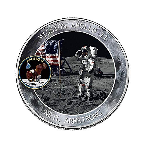 - Womdee 2019 New Apollo 11 50th Anniversary Commemorative Coin with Precious Pictures, NASA Humans First Landing, Coin Jewelry Collection Art Gift Souvenir Novelty Coin Set of 2