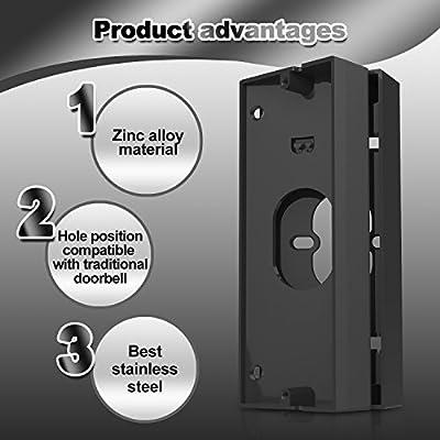 Zinc Alloy Doorbell Angle Adjustment Adapter, Stand For Ring Doorbell Pro,Braket For Ring Video Doorbell(Doorbell Not Included),With 18 Pcs Mount Kit