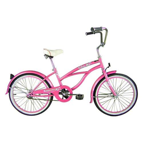 Micargi Jetta Beach Cruiser Bike, Pink, 20-Inch