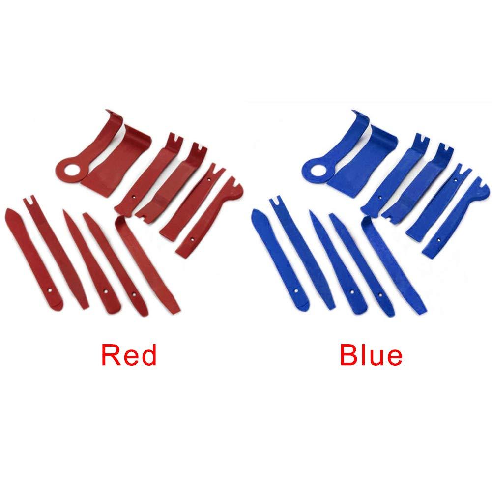 Kit di 11 Attrezzi per la rimozione dei Pannelli delle Portiere dell/'Auto Colore Blu czos88 11 Pezzi