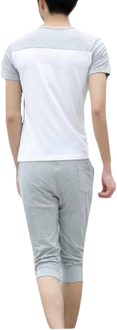 Shorts Generic Mens Fashion Athletic Tracksuit Set Short Sleeve T Shirts