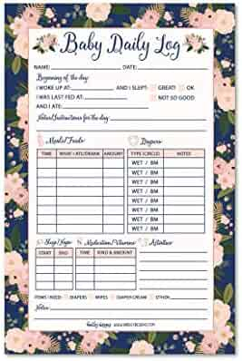 nanny newborn baby or toddler log tracker journal book daily