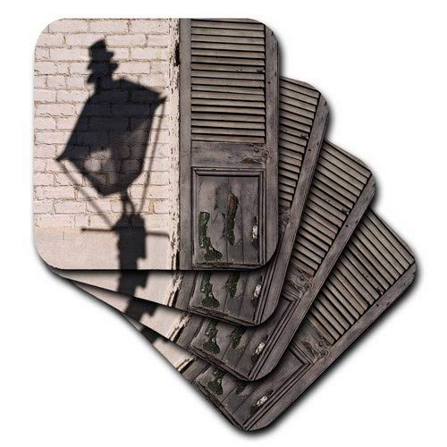 - 3dRose CST_90459_3 Louisiana, New Orleans, French Quarter Street Lamp-Us19 Bja0007-Jaynes Gallery-Ceramic Tile Coasters, Set of 4