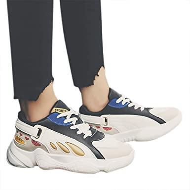ef299878907ba Amazon.com: Womens Casual Lace-up Sports Athletic Sneaker Shoes ...