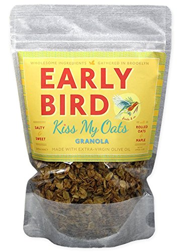 Early Bird Granola (Kiss My Oats Recipe- Granola with Rolled Oats and Maple-12 Oz (4 Pack) (Maple Granola Recipe)