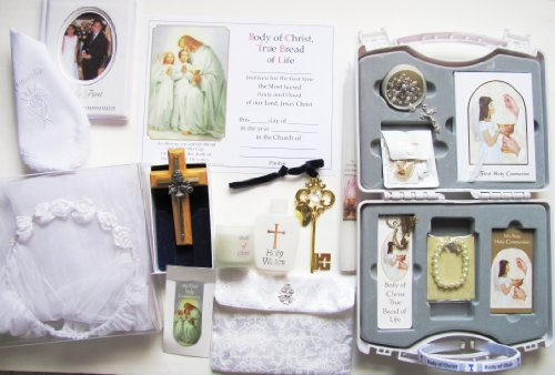 First Holy Communion Gift Set for Boy or Girl (Girl)