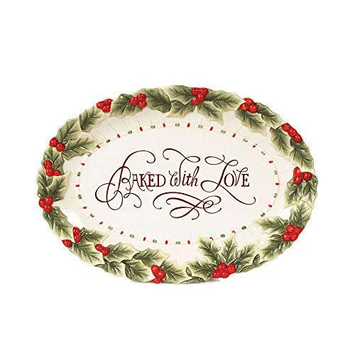 Baked With Love Oval Cookie Platter Fitz And Floyd Serving Tray