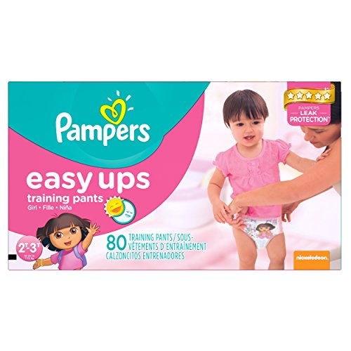 Pampers Girls Easy Ups Training Underwear 2T-3T (Size 4), 80 Count (Old Version) by Pampers
