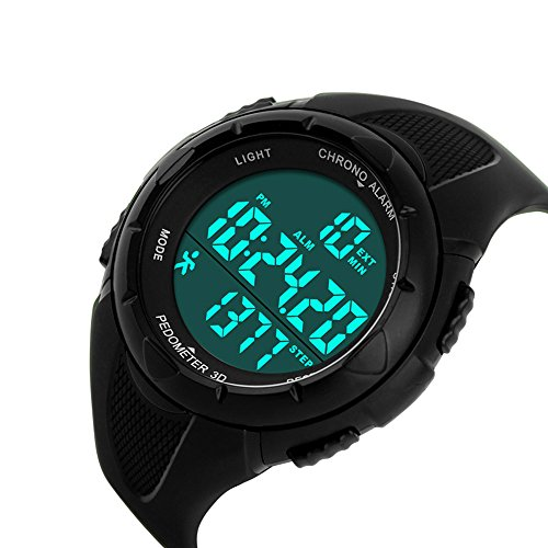 Gosasa Multifunction Men's Black Watch Fashion Pedometer Digital Fitness For Women Outdoor Wristwatches Sports Watches