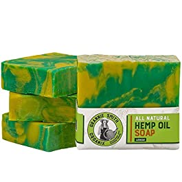 All Natural Lemon Hemp Oil Soap Bar, 6.0 oz Bar – The #1 Eco-Friendly, 100% Natural & Organically-Sourced Hemp Oil Bar Soap – Sustainable, Vegan, Biodegradable Packaging, Palm-Free, Sulfate-Free