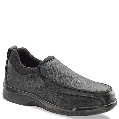 - Apex Men's Ambulator Flip Open Moc,Black Leather,US 12.5 W