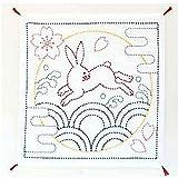 Sashiko Sampler Sashiko Fabric - Pre-Printed Bunny