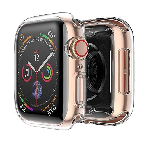 Tech Express Screen Protector Case Clear All-Around Full Protection for Apple Watch Series 4 [iWatch Cover] Rugged TPU Gel 40mm, 44mm Anti Scratch Shockproof Body Bumper TPU Gel (44mm)