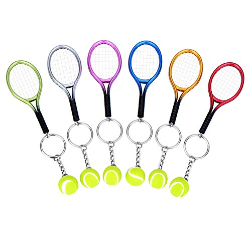 Tennis Racket Key Chain (Red) - 3