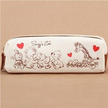 Estuche para lápices crema kawaii animal corazón de Kamio Japón: Amazon.es: Juguetes y juegos
