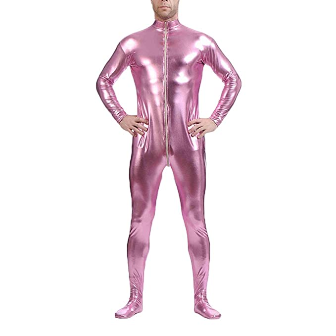 OBEEII Men Wet Look Jumpsuit Sexy Lingerie Metallic Bodysuit Open Crotch  Catsuit  Amazon.ca  Clothing   Accessories a84b4b551