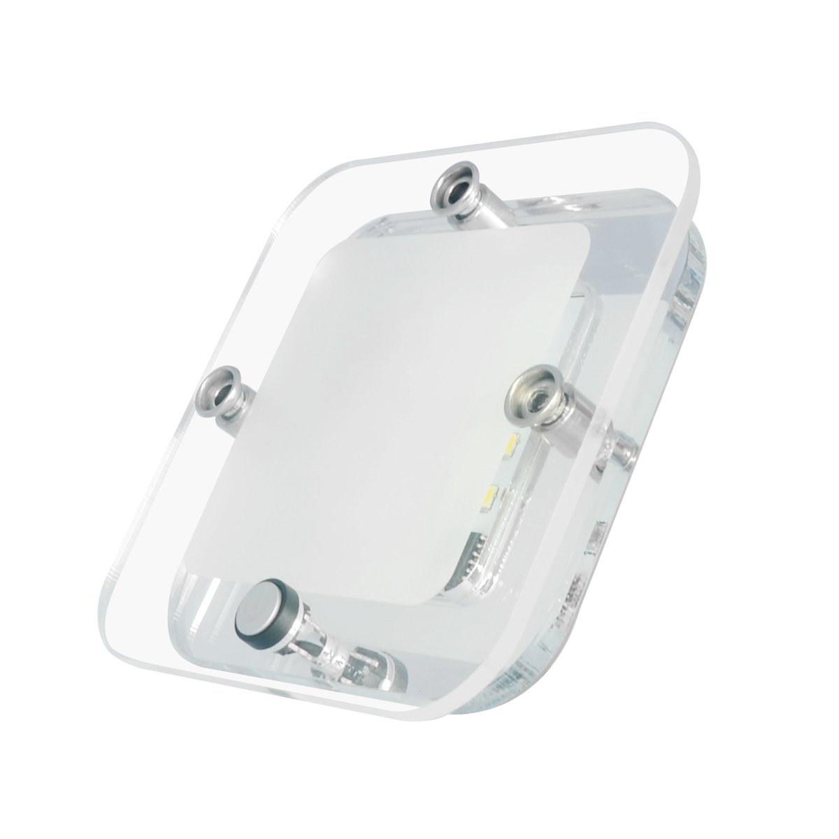 Dream Lighting Motorhome Ceiling Lights 12volt Luxury Acrylic Panel On//Off Button Switch Warm White