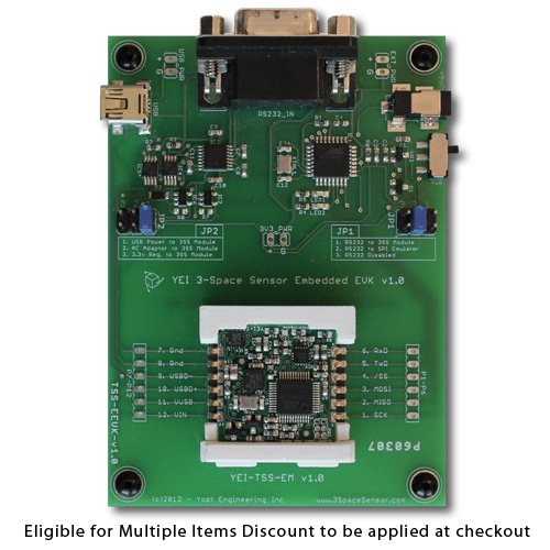 Yost Labs 3-Space Sensor 3-axis 9DOF Miniature Embedded IMU/AHRS (TSS-EEVK)