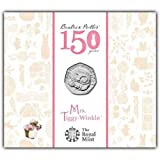 NEW!!! 2016 MRS TIGGY-WINKLE BEATRIX POTTER ROYAL MINT FIFTY PENCE 50p Coin IN FOLDER by Royal Mint