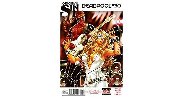 Deadpool #30 Signed by artist John Lucas LOOK!