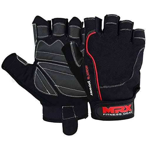 MRX Weight Lifting Gloves Pro Series Black