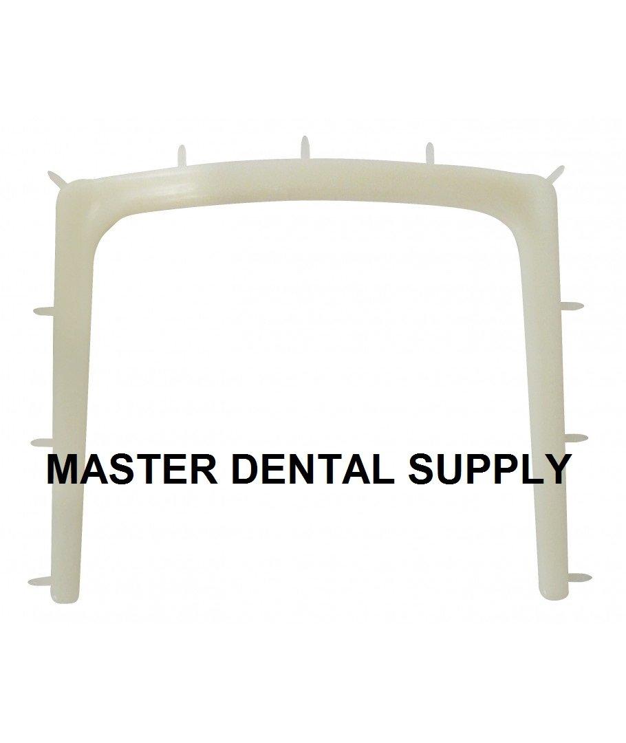 Dental Rubber Dam Frame PLASTIC Young Arch WHITE 10 Pcs Box AUTOCLAVABLE Rubber Dam Holder