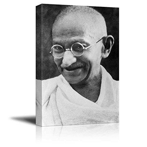 Portrait of Mahatma Gandhi - Inspirational Famous People Ser