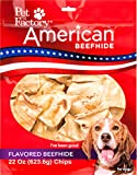 Pet Factory American Beefhide Chews 28352 Rawhide VANILLA Flavored Chips for Dogs. American Beefhide is a Great Source for Protein and Assists in Dental Health. Large 22 Ounce Resealable Package
