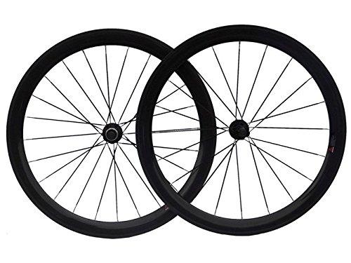3 K de carbono ruedas tubulares de bicicleta de carretera 50 mm 700 C rueda Rim: Amazon.es: Deportes y aire libre