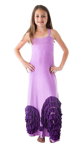 8d915893b597 Amazon.com  Pixie Girl Full Bloom Purple and Lavender Maxi Dress (12 ...