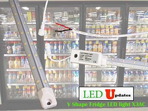 5ft V Shape walk in cooler Fridge LED Light Waterproof with built in driver direct AC input.