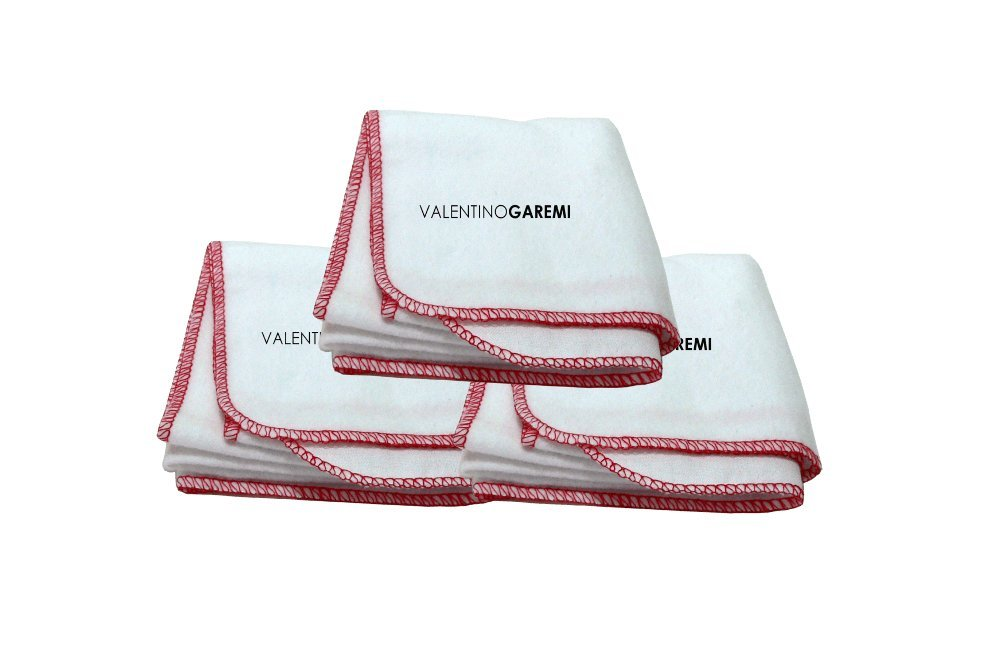 3 Cleaning Cloths for Shoes Boots Musical Instruments Furniture Silverware Genuine Cotton by Valentino Garemi