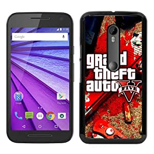 Recommended Design Moto G 3rd Case,Grand Theft Auto V 2 Black Motorola Moto G 3rd Generation Customized Case