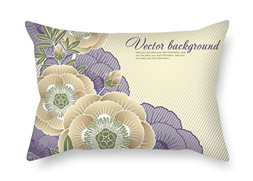 TonyLegner Pillow Cases of Flower 16 X 24 Inches / 40 by 60 cm Best Fit for Dance Room Boy Friend Club Bedding Wedding Bf Twice Sides