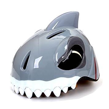 LOLIVEVE Cascos de Bicicleta para Niños Tiburones Tigre Cascos de Animales de Dinosaurios Cascos de Seguridad