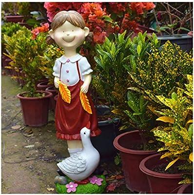 Mingteng Decoración De Jardín, Personaje De Dibujos Animados, Decoración De Esculturas Infantiles, Adornos para El Jardín, Adornos para El Jardín En El Exterior: Amazon.es: Hogar