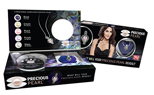 Precious Pearl Heart Necklace Pendant Locket Freshwater Cultured Pearl in Oyster Kit Gift Set 16
