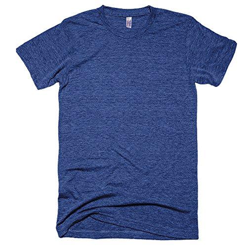American Apparel Unisex Tri-blend Short Sleeve Track T-Shirt (XL) (Tri-Indigo)