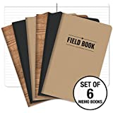 """Field Notebook - 5""""x8"""" - Combo Colors - Lined Memo Book - Pack of 6"""