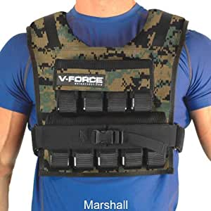 45 Lb. V-Force Weight Vest, Marshall, with narrow shoulders