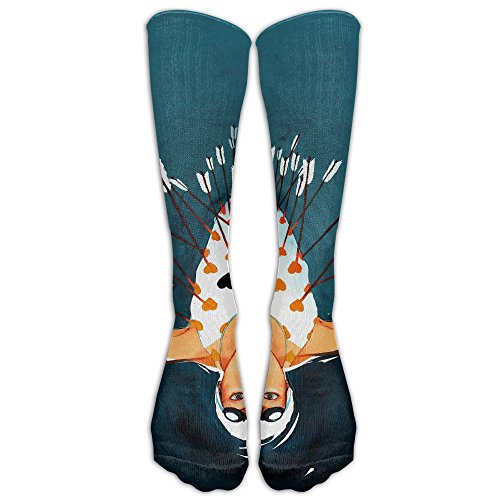 Yvun Unisex Ten Thousand Arrows Have Pierced The Heart Casual Cotton Crew Socks For Men And Women Running   Fitness Best Medical Nursing Travel   Flight Socks