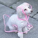 Pesp Pet Dog Cat Puppy Fashion Transparent Hooded Poncho Raincoat Rainwear Waterproof Coat Clothes Dress
