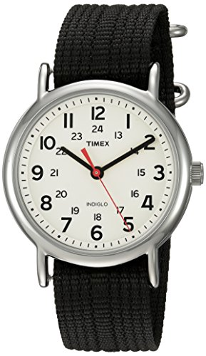 (Timex Unisex TWC027600 Weekender Cream/Black Nylon Slip-Thru Strap Watch)