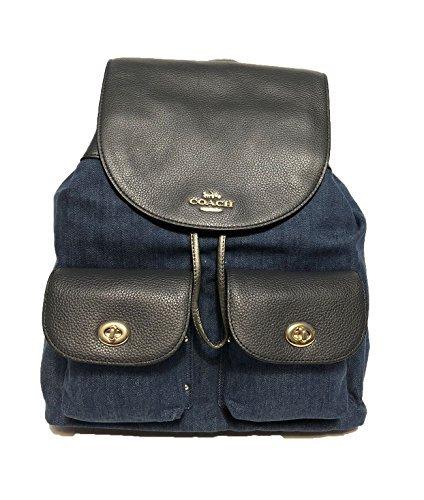 Coach Billie Backpack In Outline Signature (Im/Denim Multi) (Leather Summer Signature Handbag)