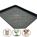 Easyology Premium Pet Food Tray - Dog Food Mat And Cat Food Mat With Non Skid Design - Best Pet Bowl Mat For Containing Spills and as Pet Food Mat Feeding Mat- Shoe Tray, Boot Tray 17.5'' x 14''