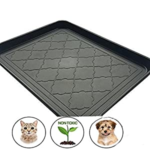 Easyology Premium Pet Food Tray - Dog Food Mat and Cat Food Mat with Non Skid Design - Best Pet Bowl Mat for Containing Spills, 17.5'' x 14'' 39