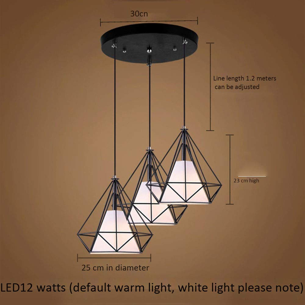 YIHUO958 (3   rund) LED12W weißes Licht